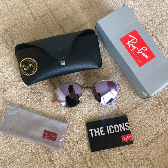 2cb735469 Ray-Ban Accessories | New Rayban Lilac Purple Round Flash Lenses ...